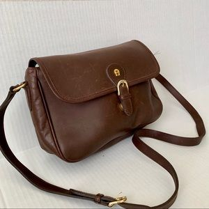 Etienne Aigner Genuine Leather Shoulder Bag (L)